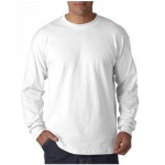 White Mens UltraCotton Long Sleeve T- Shirt