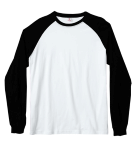 Customize a White and Black -  - Haworne Baseball T- Shirt