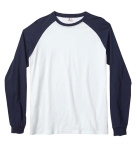White Navy  - Haworne Baseball T- Shirt