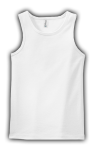 Customize a White - - Ladies 2x1 Rib Tank Top