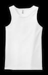 Customize a White - - Ladies 2x1 Rib Tank Top