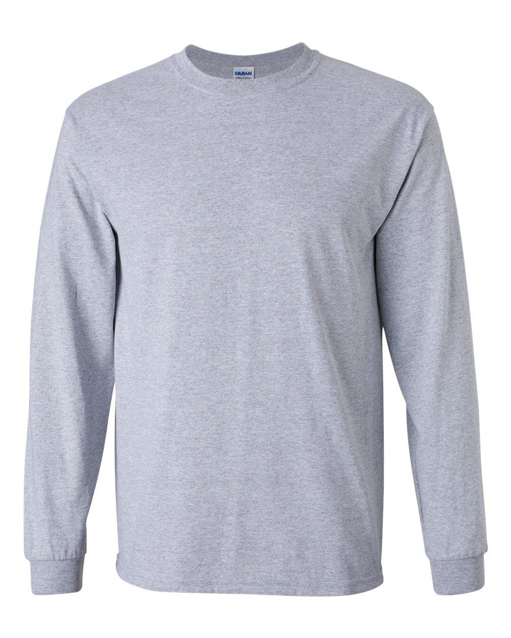 Dubuque Independent Football League - Product  Adult 100% Cotton Long  Sleeve T-Shirt (Grey) bca39391e5e