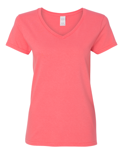 75a0cd5d96 Gildan Ladies' Heavy Cotton V-Neck T-Shirt with Tearaway Label