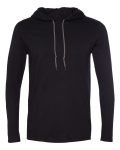 4.5 oz. 100% Combed Ringspun Cotton Long Sleeve Hooded T-Shirt