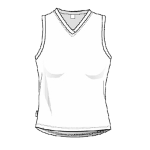 White Women's Running Singlet