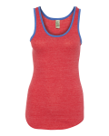Eco True Red Eco True Royal Ladies' Eco-Jersey Ringer Racerback Tank