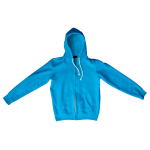 Neon Heather Blue F497 Flex Fleece Zip Hoodie