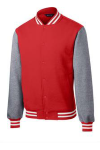 Tr Red Vnt He Sport-Tek Fleece Letterman Jacket