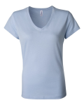 Ladies' V-Neck Short Sleeve T-Shirt