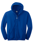 Royal Gildan Heavy Blend Full Zip Hooded Sweatshirt