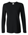 Black Ultra Cotton Ladies' Long Sleeve Tee