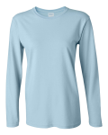 Light Blue Ultra Cotton Ladies' Long Sleeve Tee