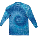 Blue Jerry Long Sleeve Spider Tie Dye Tee