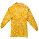 Gold Long Sleeve Spider Tie Dye Tee