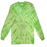 Lime Long Sleeve Spider Tie Dye Tee