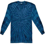 Navy Long Sleeve Tie Dye Tee