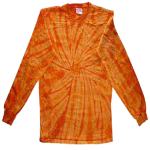 Orange Long Sleeve Spider Tie Dye Tee