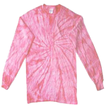 Pink Long Sleeve Spider Tie Dye Tee