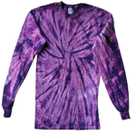 Purple Long Sleeve Spider Tie Dye Tee