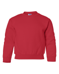 Red Heavy Blend Youth Crewneck Sweatshirt