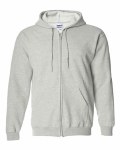 Ash Heavy Blend Full-Zip Hooded Sweatshirt