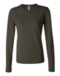 Army Silkscreen Only - Bella - Ladies' Long Sleeve Crewneck Jersey T-Shirt