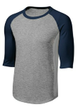 Heather Gray Navy Raglan Jersey