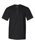 Black Short Sleeve Henley