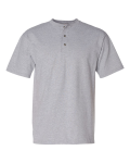 Heather Grey Short Sleeve Henley