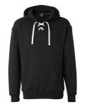 Black Sport Lace Hooded Sweatshirt