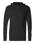Black Unisex Driftwood Long Sleeve Hooded T-Shirt