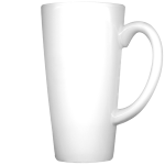White Ceramic Photo Latte Mug (Lg)