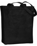 Black 100% Cotton Heavyweight Canvas Tote