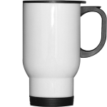White 14 oz White Travel Photo Mug