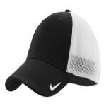 Black White Nike Golf Mesh Back Cap
