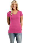 District Threads Juniors Perfect Fit 1x1 V-Neck Tee