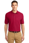 Red Port Authority Silk Touch Sport Shirt