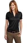Black Port Authority Ladies Performance Fine Jacquard Sport Shirt