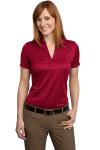 Rich Red Port Authority Ladies Performance Fine Jacquard Sport Shirt