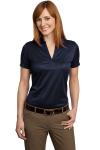 True Navy Port Authority Ladies Performance Fine Jacquard Sport Shirt