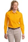 Athletic Gold Port Authority Ladies Long Sleeve Easy Care Shirt