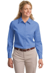 Ultramarne Blu Port Authority Ladies Long Sleeve Easy Care Shirt
