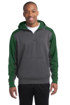 Sport-Tek Colorblock Tech Fleece 1/4-Zip Hooded Sweatshirt