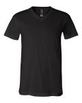 Black Delancey Short Sleeve V-Neck T-Shirt