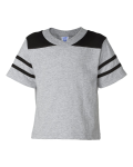 Heather Black Toddler Football T-Shirt
