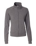 Deep Heather Bella - Ladies' Cotton/Spandex Cadet Jacket
