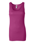 Berry Bella - Ladies' Rachel Sheer Rib Longer Length Tank Top