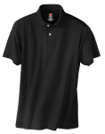 Black Hanes Stedman 5.2-Ounce Jersey Knit Sport Shirt