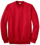 Red Gildan DryBlend Crewneck Sweatshirt