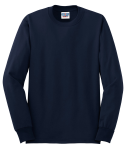 Navy JERZEES Heavyweight Blend 50/50 Cotton/Poly Long Sleeve T-Shirt